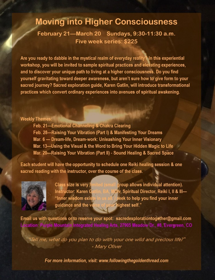 Higher Consciousness Workshop Flyer