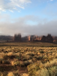 Arches in the fog